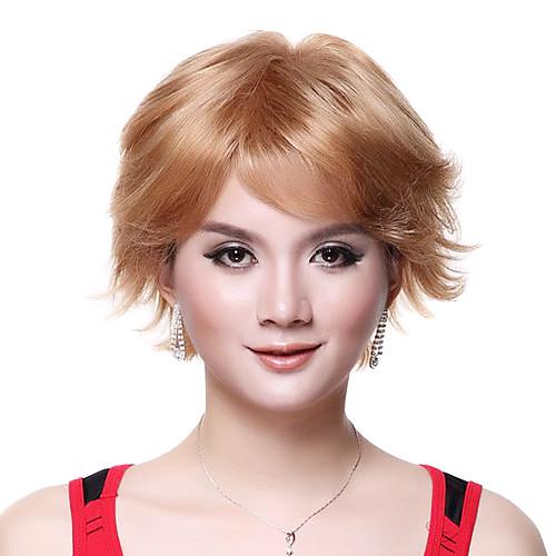Монолитным Высочайшее качество 100% человеческих волос Супер моды Блондинки Короткие Парик Lightinthebox
