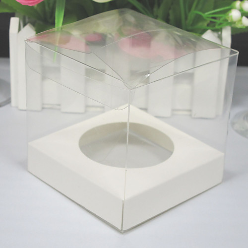 прозрачные коробки кекс с базой внутри (набор из 12) Lightinthebox 171.000