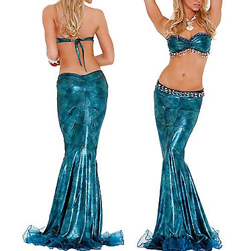 Сексуальные женские синий Гипнотизирующие Русалка взрослых Хеллоуин костюм (2шт) Lightinthebox 858.000