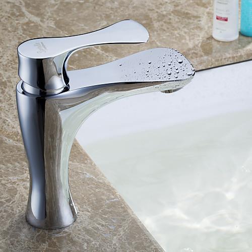 Sprinkle - от lightinthebox - современное твердой латуни ванной комнате раковина кран (хромированная отделка) Lightinthebox 2148.000