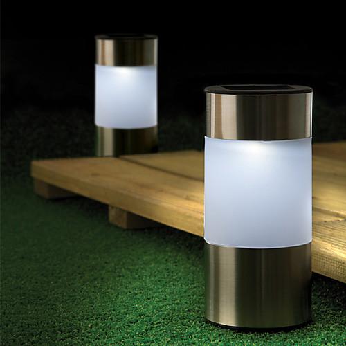 Набор из 4 Солнечная светодиодные Garden Path Маркер Мини лампа Patio Боллард Lightinthebox 1976.000