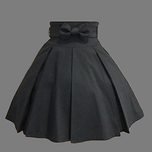 Длиной до колен черного хлопка Западной Стиль Классический Лолита юбка Lightinthebox