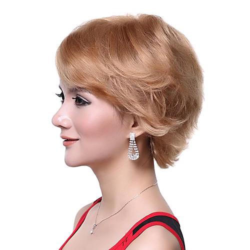 Монолитным Высочайшее качество 100% человеческих волос Супер моды Блондинки Короткие Парик Lightinthebox 2448.000