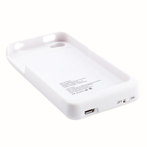 Сверхтонкая внешняя батарея с чехлом для iPhone 4 и 4S (белый, 1900 мАч) Lightinthebox 343.000