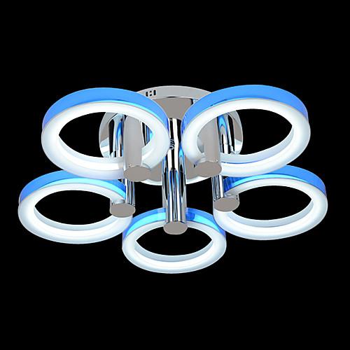 современная акриловая потолочный светильник с 5 огней в 5 колец дизайна Lightinthebox 10742.000