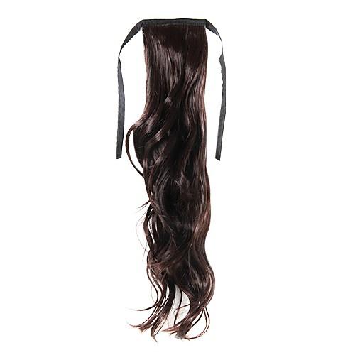 laceup каштановые длинные вьющиеся хвостики волос штук-3 цвета Lightinthebox 429.000