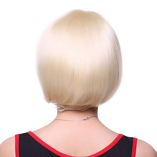 Монолитным моды Высочайшее качество 100% человеческих волос Светло-русый короткий парик