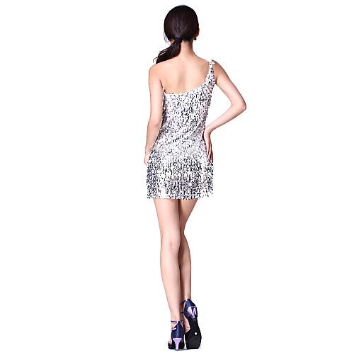 производительность танцевальная одежда тюля с мехом и блестками платье латинских танцев для женщин больше цветов Lightinthebox 816.000