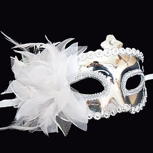 Блеск Серебряный цветок пластиковые пол-лица маски Lightinthebox 257.000