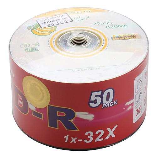 99min 870MB CD-R диск для 1X-32X Высокоскоростная Driver (50-упаковка) Lightinthebox 1374.000