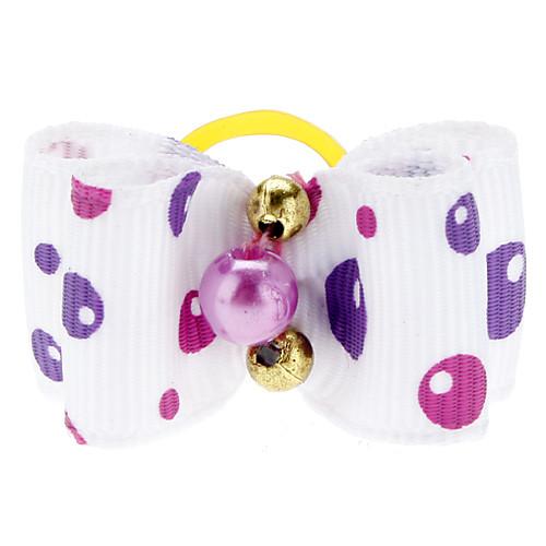 Симпатичные Bubble Pattern Крошечные Rubber Band волосы бант для собак Кошки (разные цвета) Lightinthebox 42.000