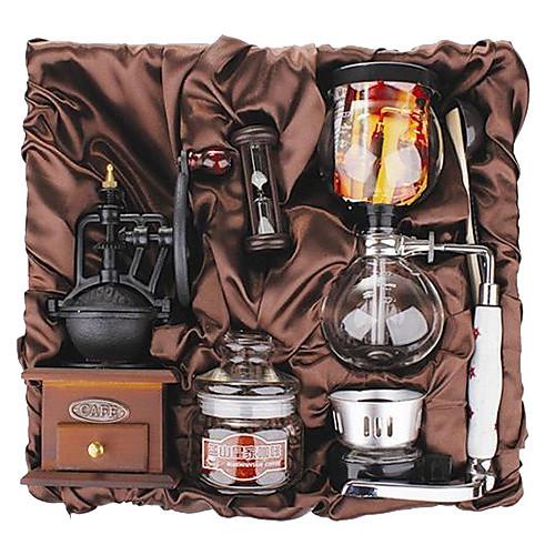 Кофе серии штучной упаковке подарка (Seal & Сифон Pot, Grinder, кубки) T-010 Lightinthebox 3437.000