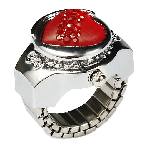Довольно сплав Сердце Дизайн Кристалл Ring Watch (другие цвета) Lightinthebox 180.000