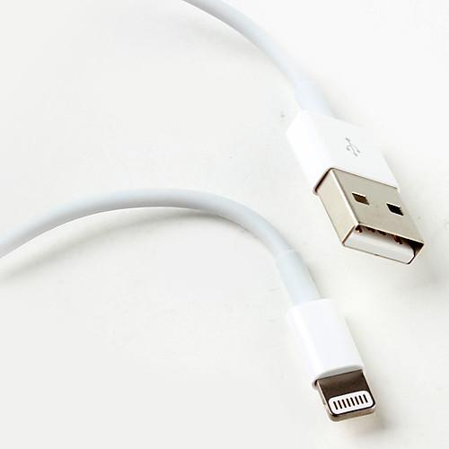 Светодиодный кабель синхронизации и зарядки Lightning к USB для iPhone 5, iPad mini и iTouch 5 (1 м, белый) Lightinthebox 515.000