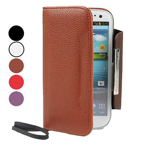 PU кожаный чехол с бумажник и слот для карт Samsung Galaxy S3 I9300 (разных цветов) Lightinthebox 429.000
