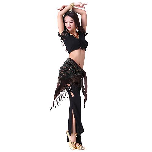 танцевальная одежда хлопка с блестками производительности пояса танец живота для женщин больше цветов Lightinthebox 837.000