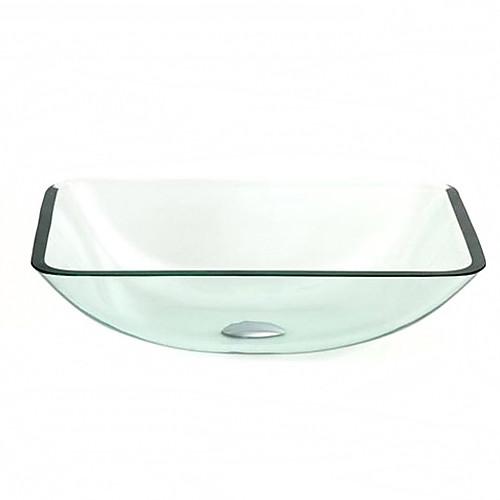 vt5020 современной закаленное стеклянный сосуд раковина прямоугольник с монтажным кольцом и сливной воды Lightinthebox 4898.000