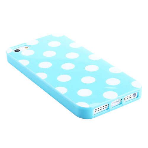 Мягкий чехол в горошек для iPhone 5 (разные цвета) Lightinthebox 118.000