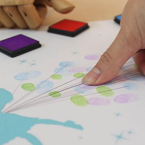 персонализированные отпечатки пальцев отпечатки на холсте картины - любовь птиц (включает в себя 6 цветов чернил, рамка не включена) Lightinthebox 1219.000