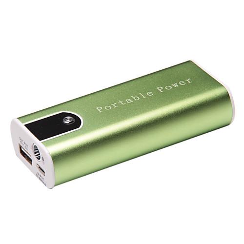 5200 мАч портативная внешняя батарея для сотовых телефонов со светодиодом и алюминиевым копусом Lightinthebox 816.000