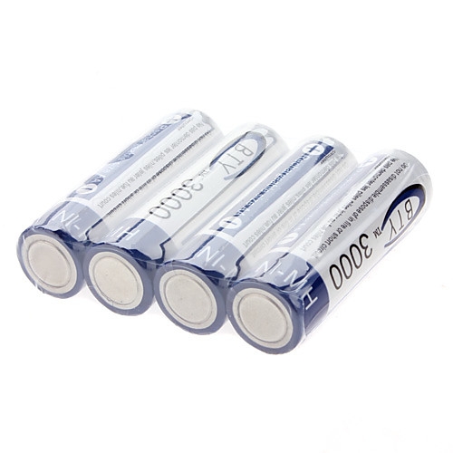 BTY AA 3000mAh Ni-MH аккумуляторы (1,2 В, 4-Pack) Lightinthebox 300.000