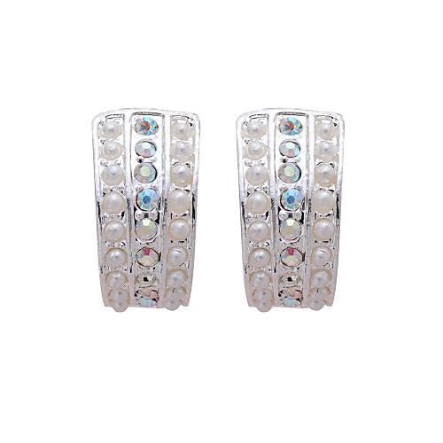 великолепные прозрачные кристаллы с имитацией жемчуга свадьбы свадебный комплект украшений, в том числе колье и серьги Lightinthebox 386.000