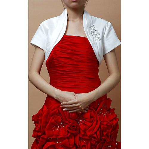 Замечательный тафты Короткие рукава Женщины в вечернее / Куртка Свадьба / Wrap (другие цвета) Lightinthebox 902.000
