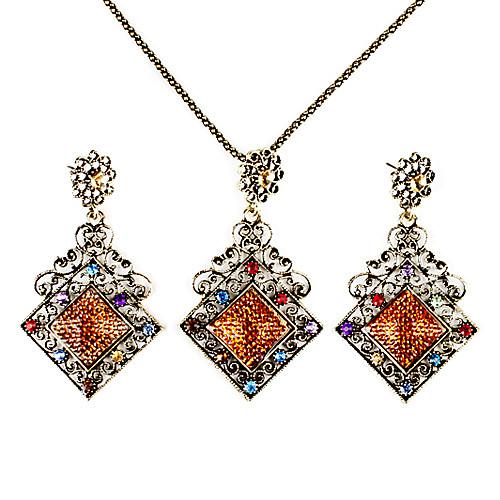Набор из ожерелья и серег в винтажном стиле с кристаллами Lightinthebox 257.000