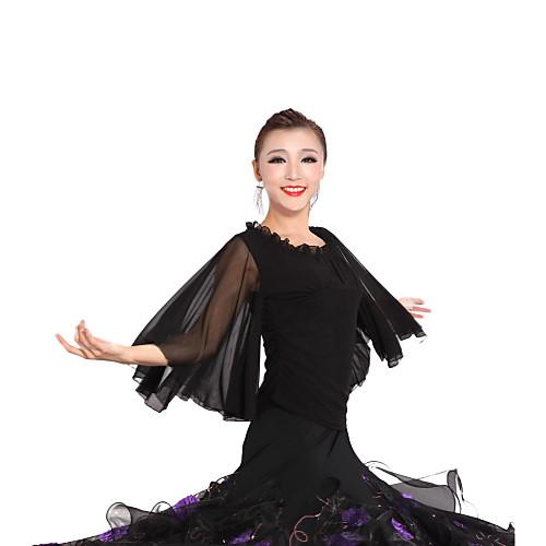 бального танцевальная одежда вискоза, тюль современные танцы топ для женщин