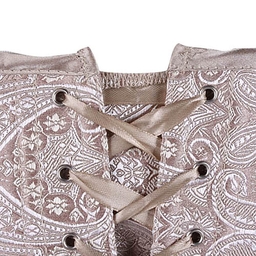 Атласные платья без бретелек жаккарда с боковой молнией Shapewear Закрытие Корсеты Lightinthebox 1288.000