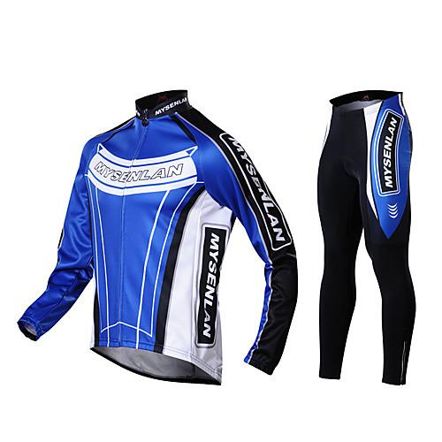 Мужской велосипедный костюм осень-зима из двухстороннего флиса Lightinthebox 2577.000