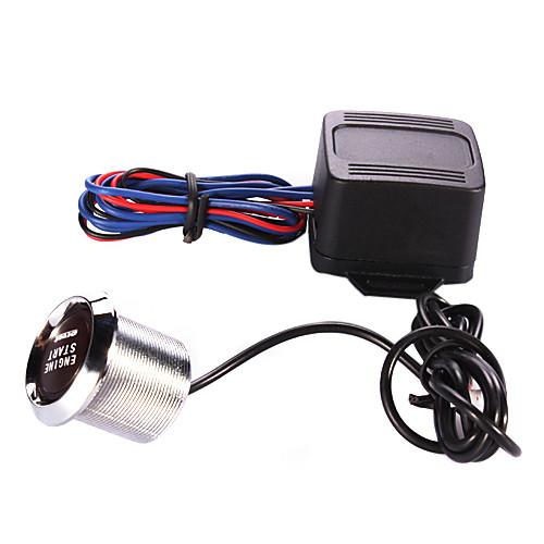 One-Key Engine Start Button переключателем для автоматической установки с Red / Blue Light (DC 12V/30A) Lightinthebox 858.000