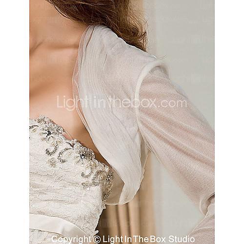 Элегантные длинные рукава из органзы и кружева Люкс куртки / Свадебные Wrap Lightinthebox 902.000