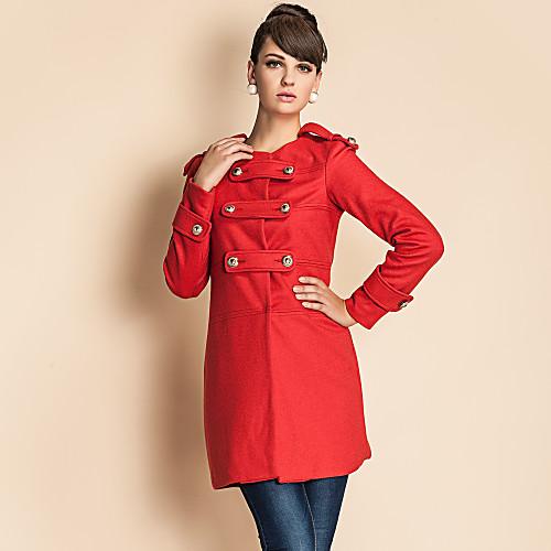 TS военном стиле золотого кнопку твидовые пальто Lightinthebox 1815.000