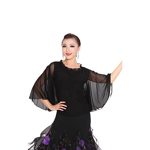 бального танцевальная одежда вискоза, тюль современные танцы топ для женщин Lightinthebox