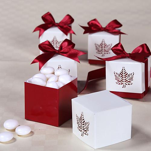 Коробочки для сувениров с атласной лентой и лазерным принтом в осеннем стиле Lightinthebox 171.000