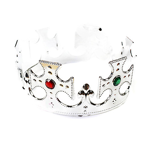 Серебряная корона ПВХ Хэллоуин Головной убор (1 шт) Lightinthebox 128.000