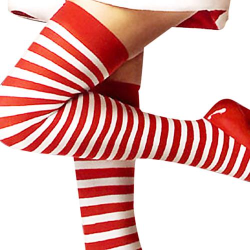 Симпатичный полосатый красный и белый рождественские чулки (1 шт) Lightinthebox 257.000