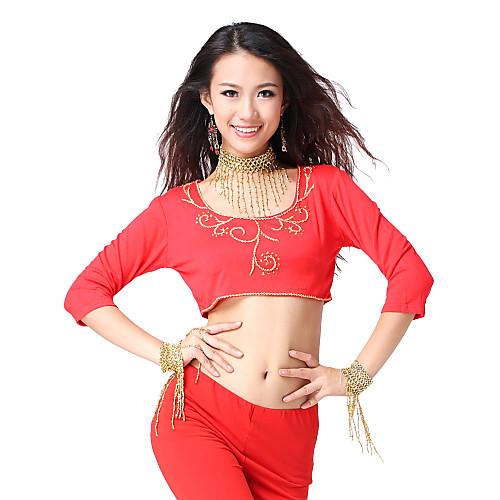 танцевальная одежда кристалл хлопка с аппликациями верхней танец живота для женщин больше цветов Lightinthebox 373.000