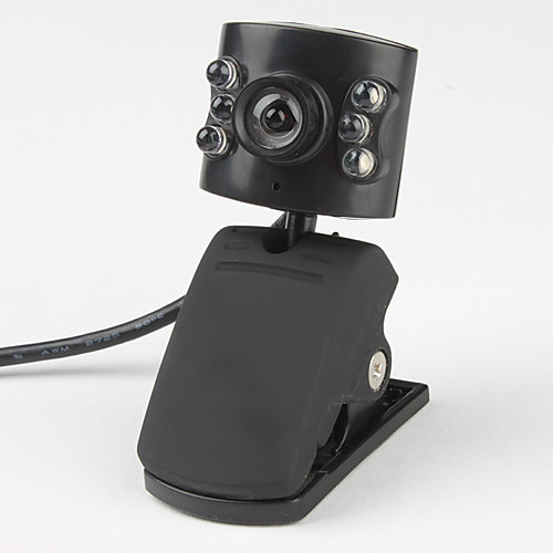 6-LED 5,0 мегапикселя USB 2.0 Clip-на PC камера Веб-камера с микрофоном Lightinthebox 171.000
