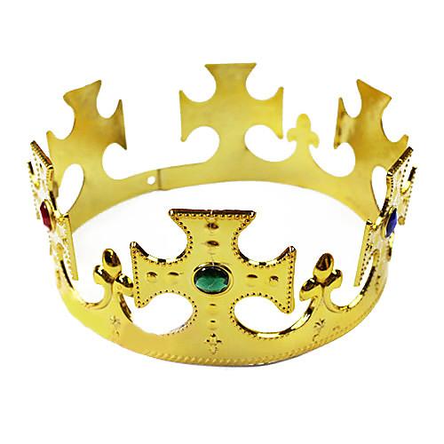 Золотая Корона ПВХ Хэллоуин Головной убор (1 шт) Lightinthebox 128.000