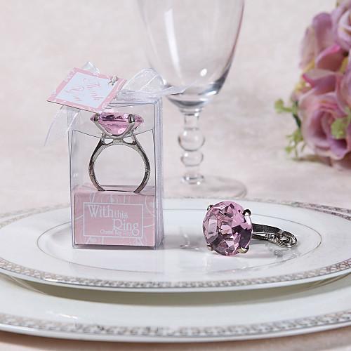 engagment кольца брелок с коробкой подарка и