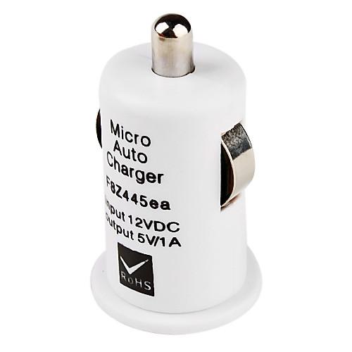 мини USB зарядное устройство автомобиля на мобильный 5 (белый) Lightinthebox 85.000