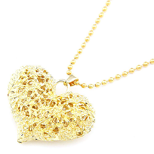 Позолоченные полым Из персик сердца ожерелье сплава Lightinthebox 77.000