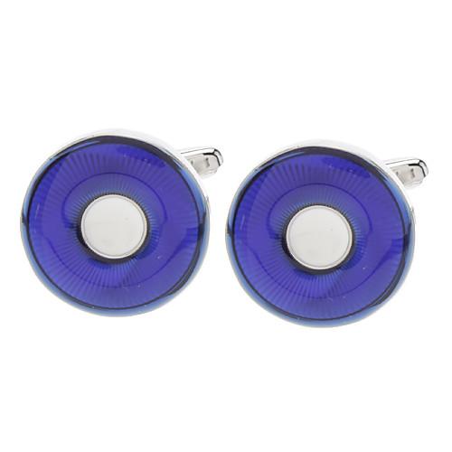 Круглый Агат голубой шар Белый запонки форме сердца Lightinthebox 343.000