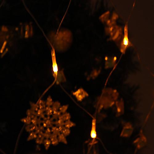 Фестиваль украшения 120-светодиодный 8-режим желтого света Чистая Лампы для забора Garden Party (220) Lightinthebox 515.000