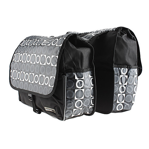 ROSWHEEL 28L ПВХ водонепроницаемая сумка Двухместный Паньер с 1 дополнительный карман (черный и белый) Lightinthebox 1718.000