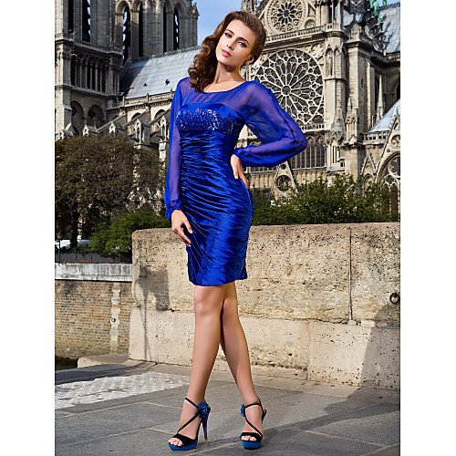 ALVA - Платье коктейльное из шифона и атласа Lightinthebox 4253.000