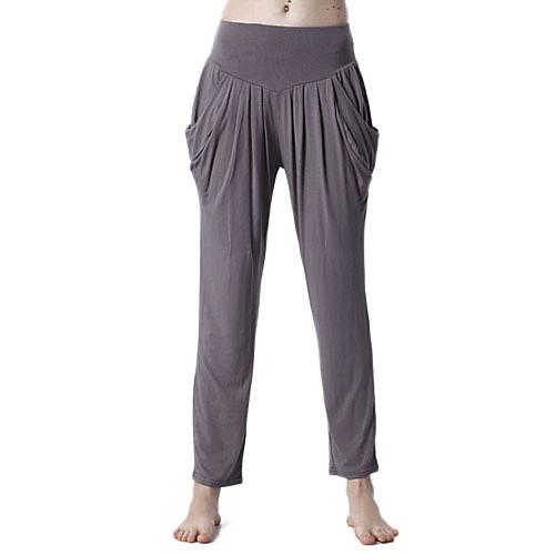 охрана окружающей среды хлопка с длинными рукавами плиссированные спортивные йоги костюм (полосатые топы  серые брюки) Lightinthebox 1073.000