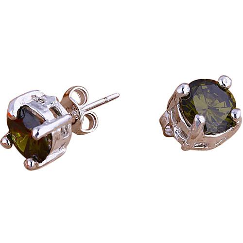 великолепная серебряная пластина круглой формы кристаллов серьги (более цвета) Lightinthebox 128.000